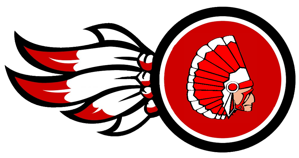 Cut clipart skin. Indians logo with redskin