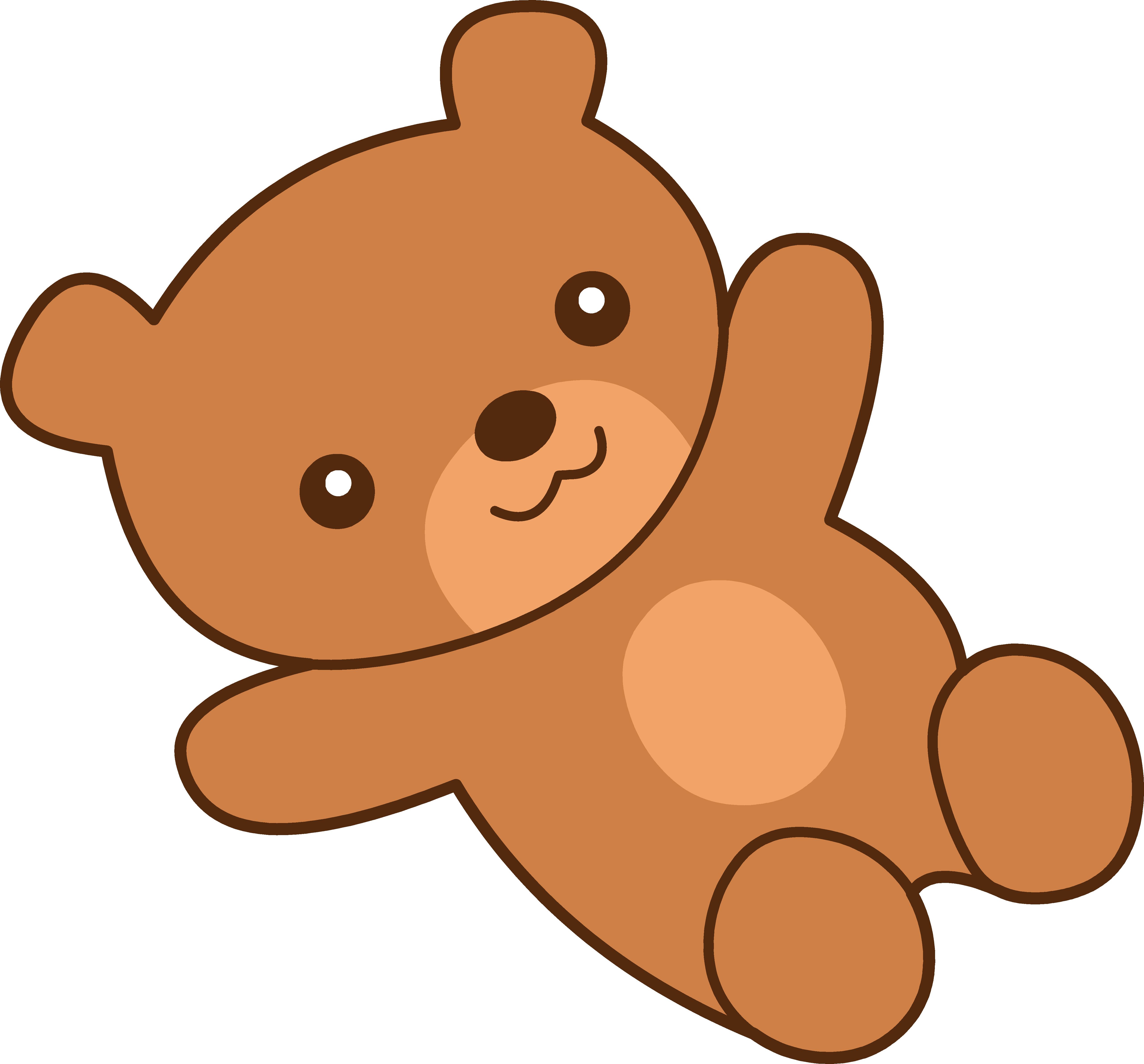 Cute brown teddy free. Clipart bear baby bear