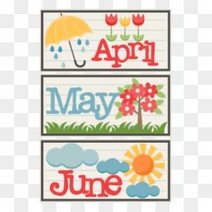 May clipartfox april free. June clipart cute