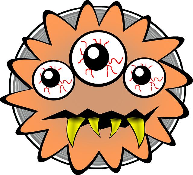 Germ clipart chlamydia. Bacterias y virus pixabay