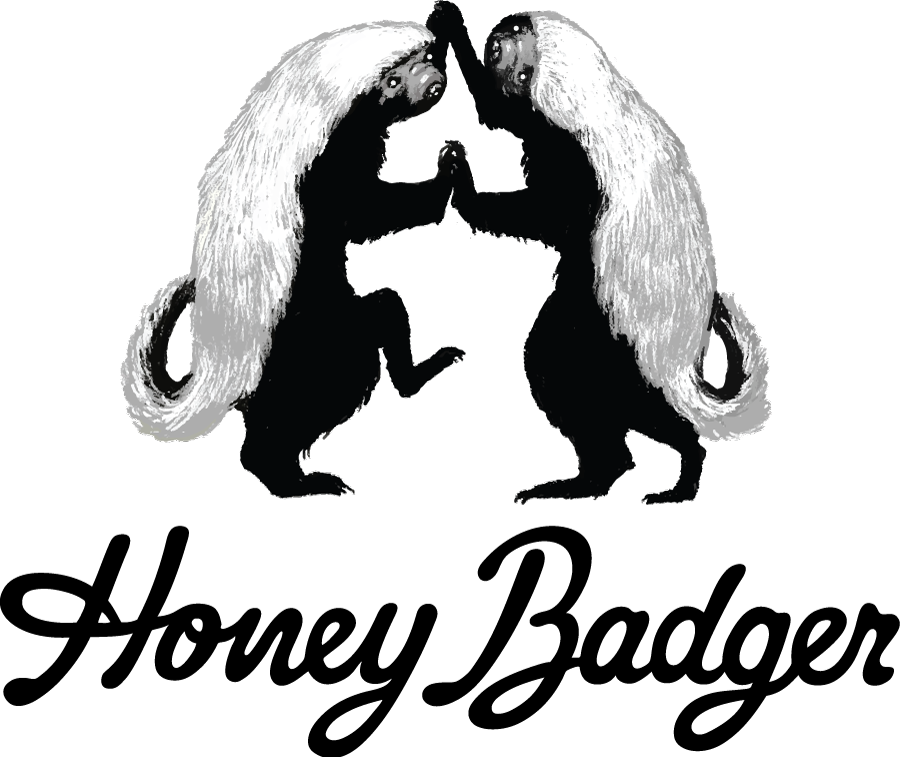 Honey clipart black and white. Badger crazywidow info