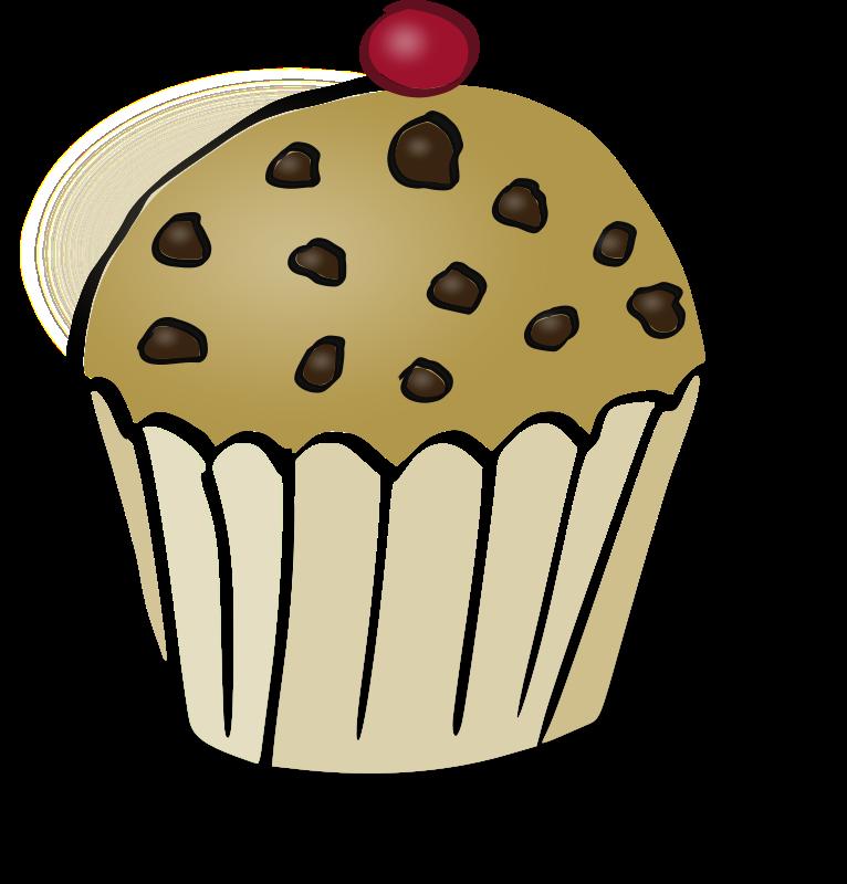 Chocolate chips muffin medium. Muffins clipart cute