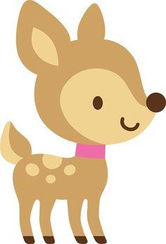 Deer clipart baby deer. Cute free image clip