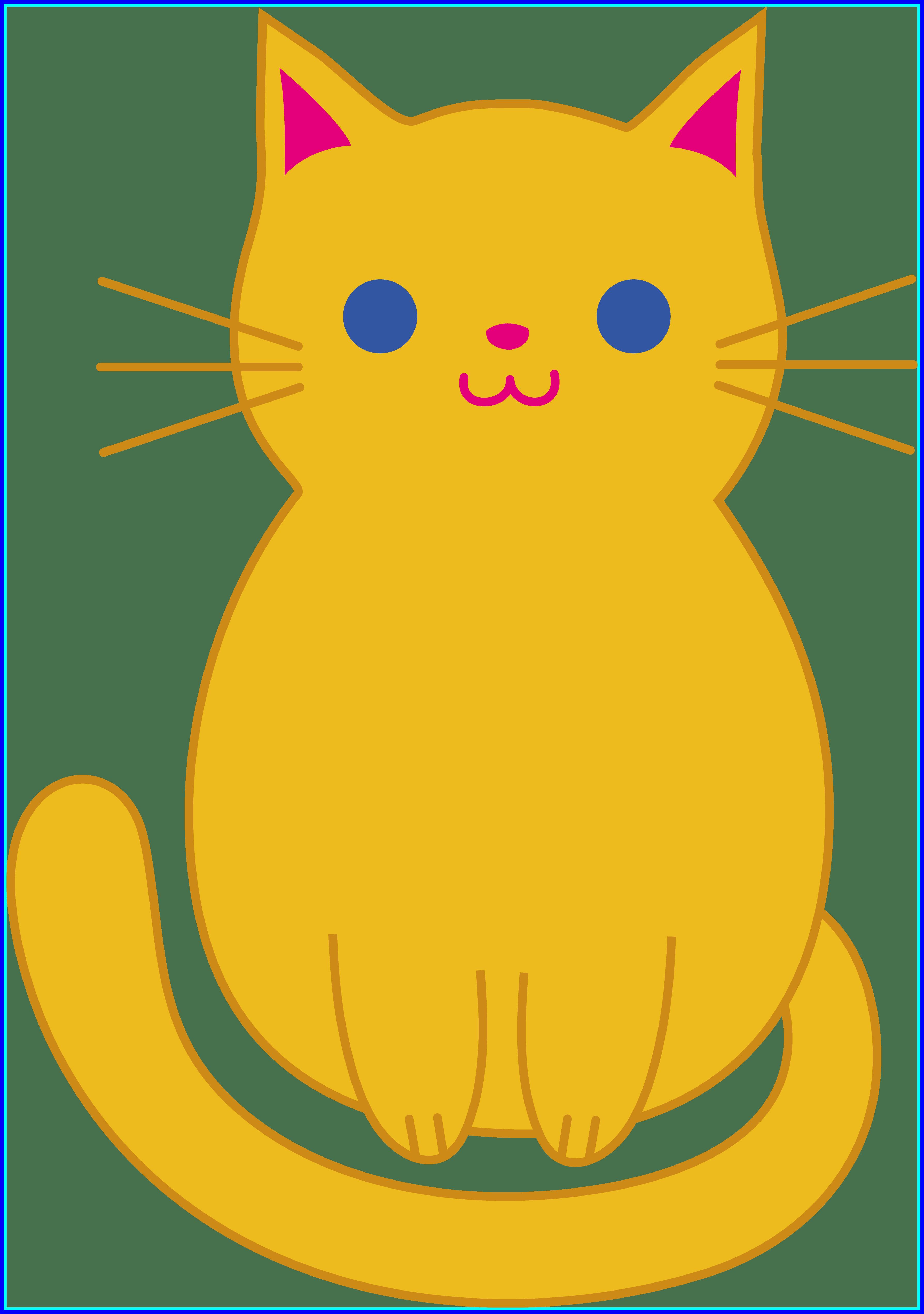 Kittens clipart 7 cat. Easy alternative design best