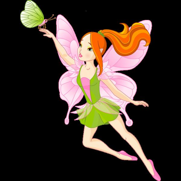 Fairy golden cartoon clip. Fairies clipart spring
