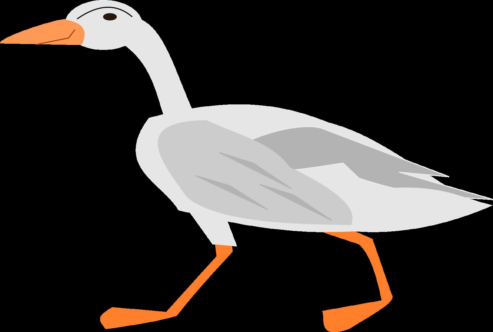 Free digital fox hen. Cute clipart goose