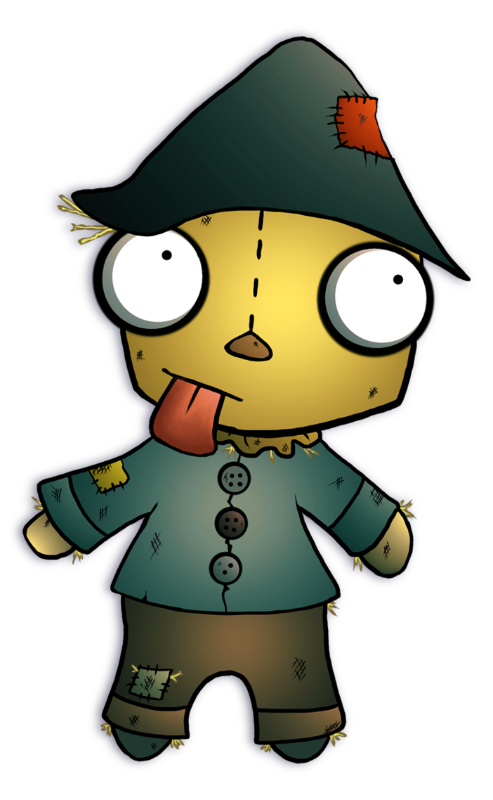 Gorilla clipart mad. Gir the scarecrow by