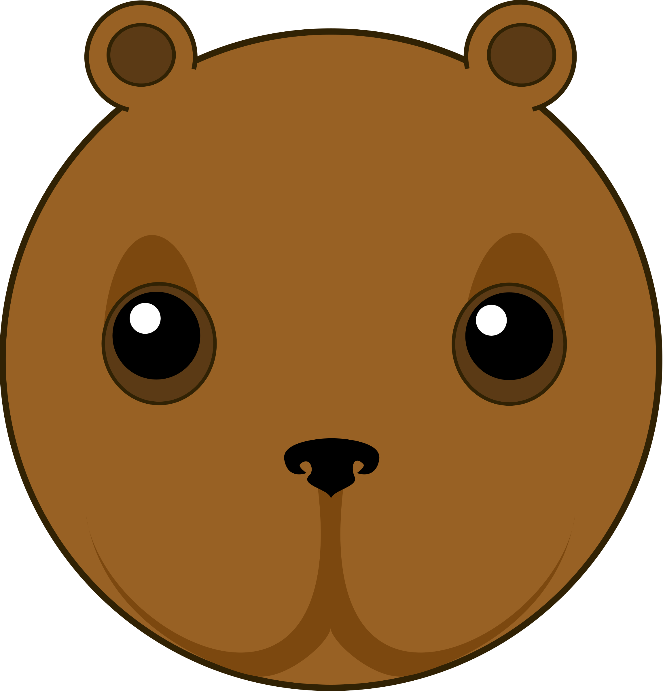 Groundhog clipart cute. Bear head big image