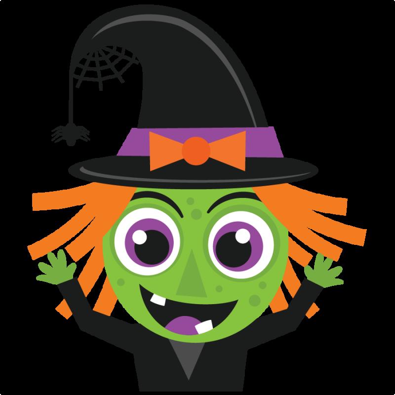 Witch clipart cute. Halloween svg scrapbook cut