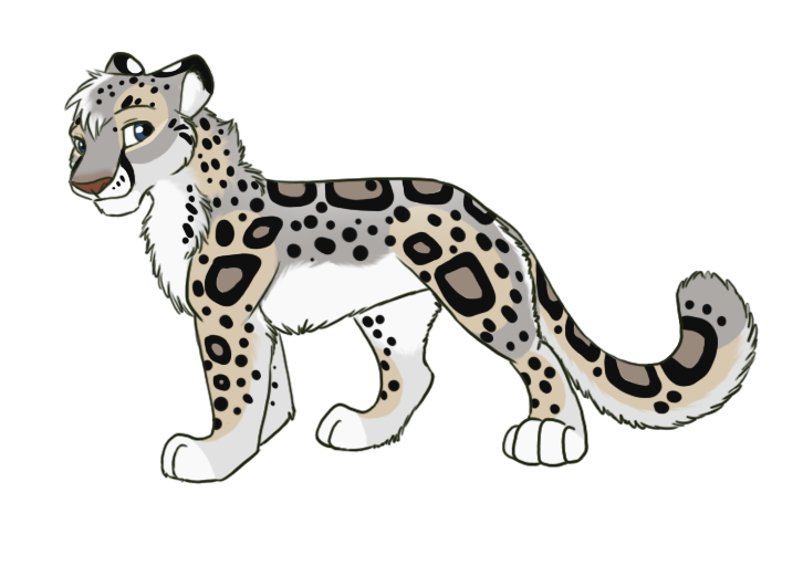 Commission snow leopard by. Sad clipart cheetah