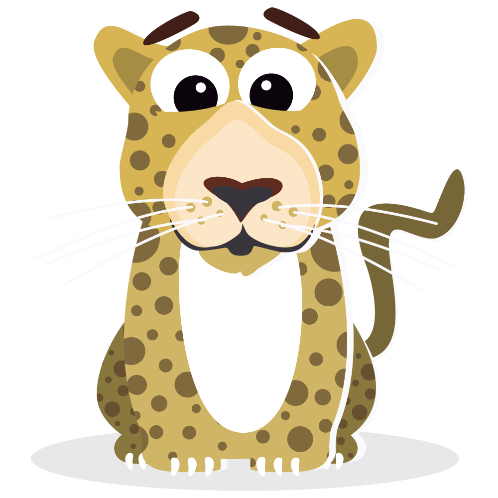 collection of cute. Fast clipart leopard