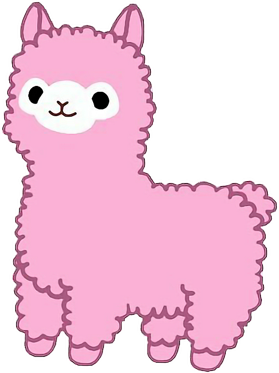Pink Clipart Llama Pink Llama Transparent Free For Download