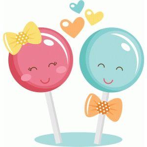 Lollipop clipart cute couple.  miss kate art