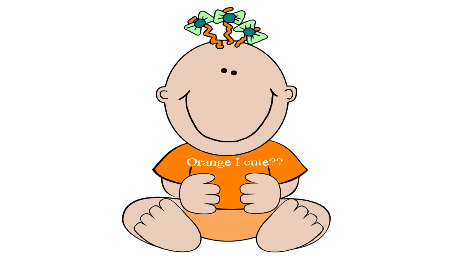 Baby orange free images. E clipart cute