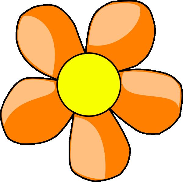 Orange flower clip at. Flowers clipart art