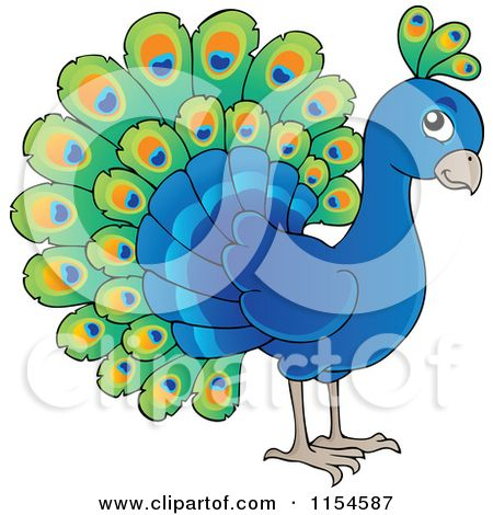 Cartoon of a cute. Peacock clipart sad