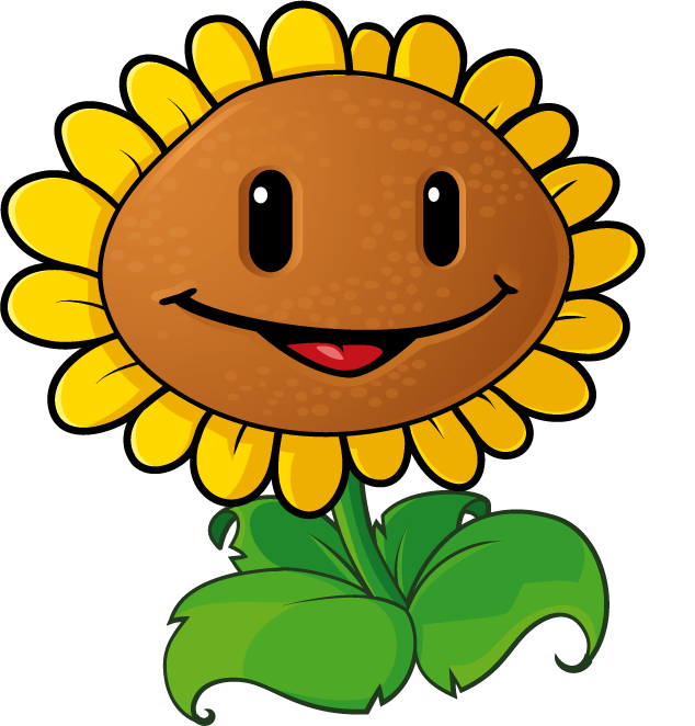 This is best sunflower. Zombie clipart face