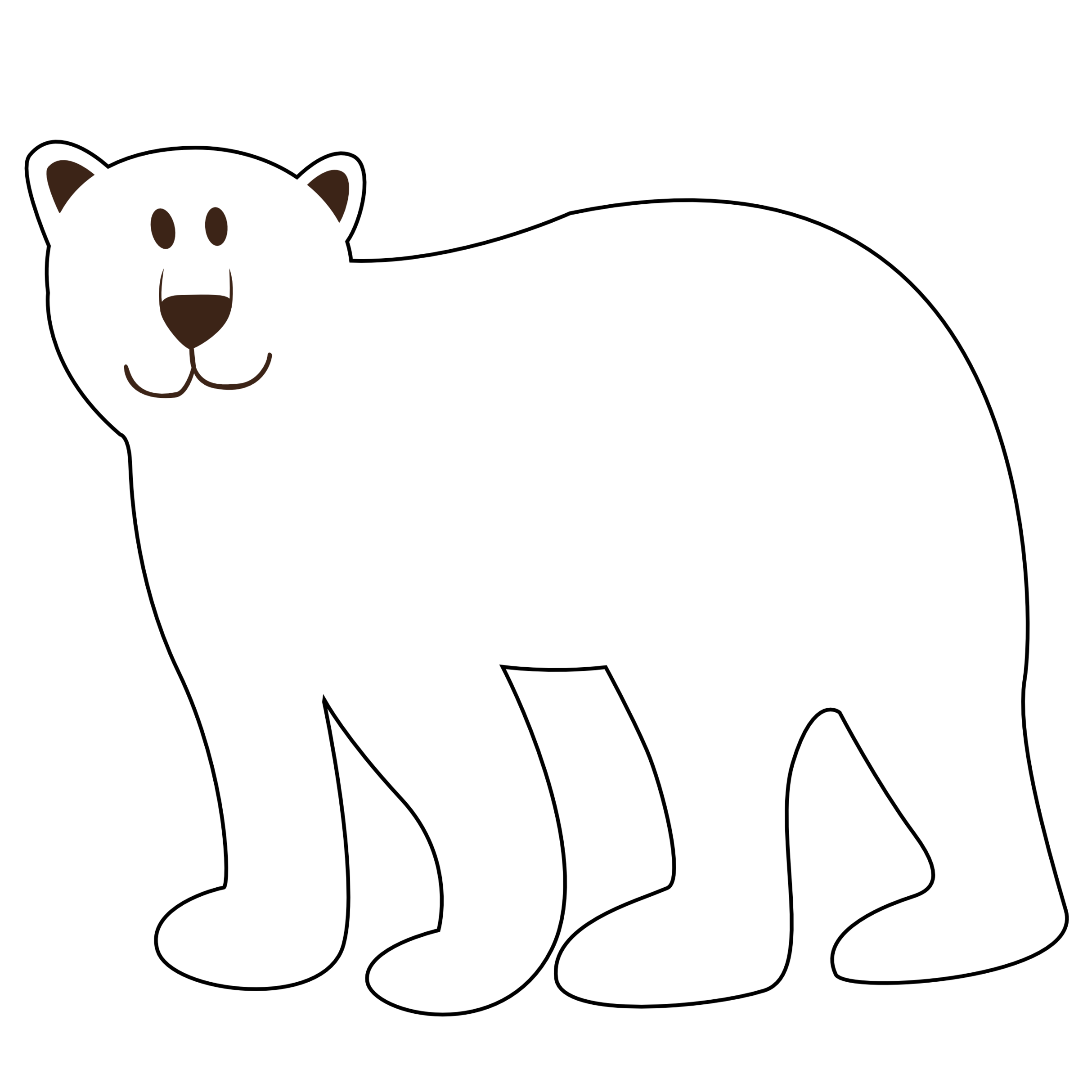collection of polar. Husky clipart black and white