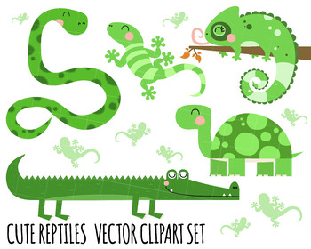 Reptiles tortoise crocodile lizard. Snake clipart reptile