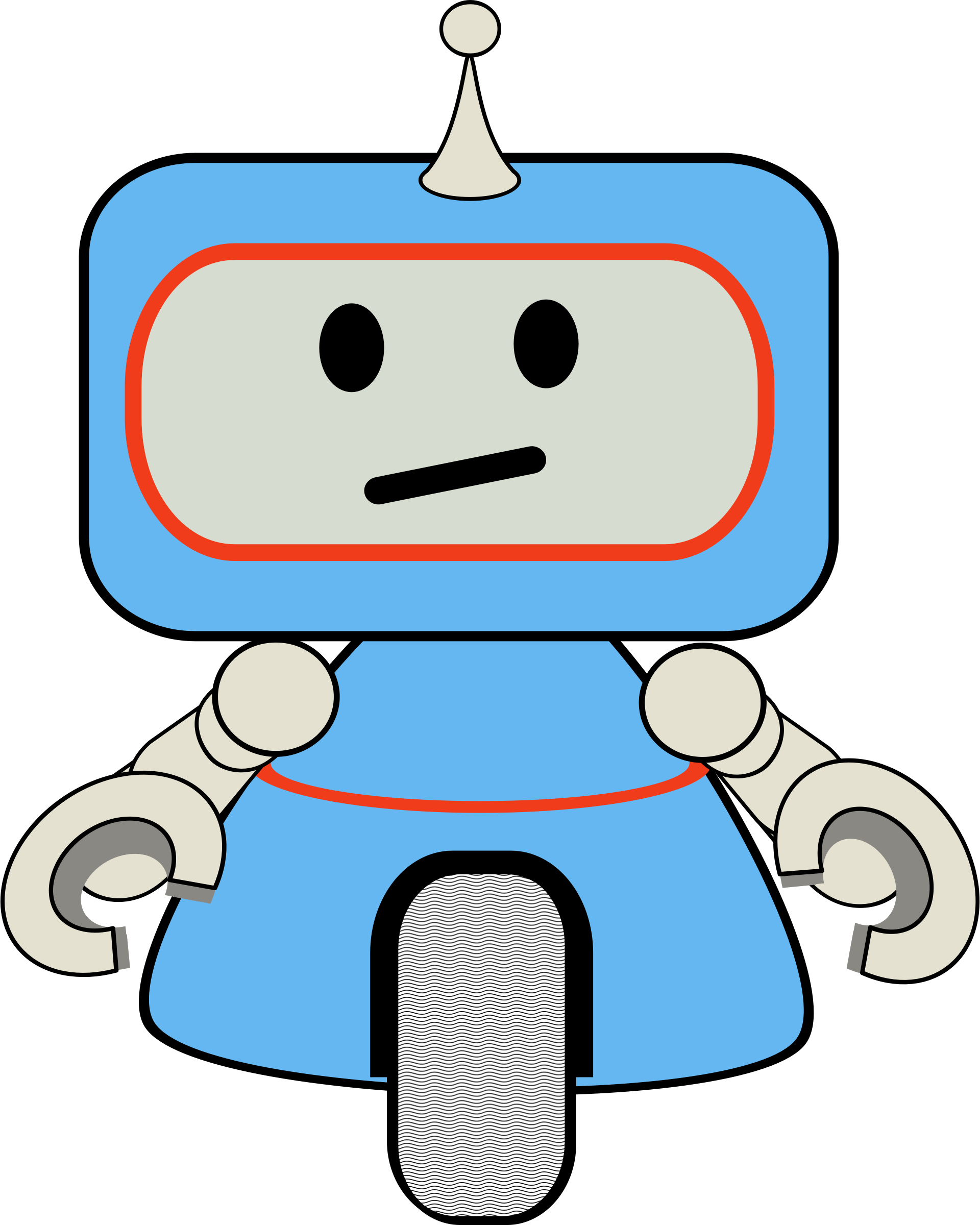 Little robot big image. Wheel clipart cute