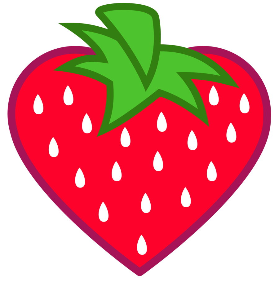 cool cute heartshaped. Strawberries clipart stem
