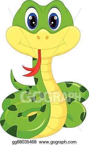 Vector illustration cartoon eps. Cute clipart snake