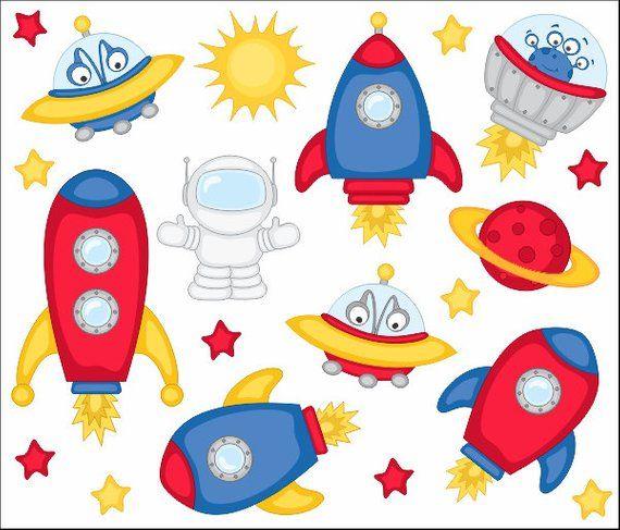 Spaceship clipart cute. Outer space clip art