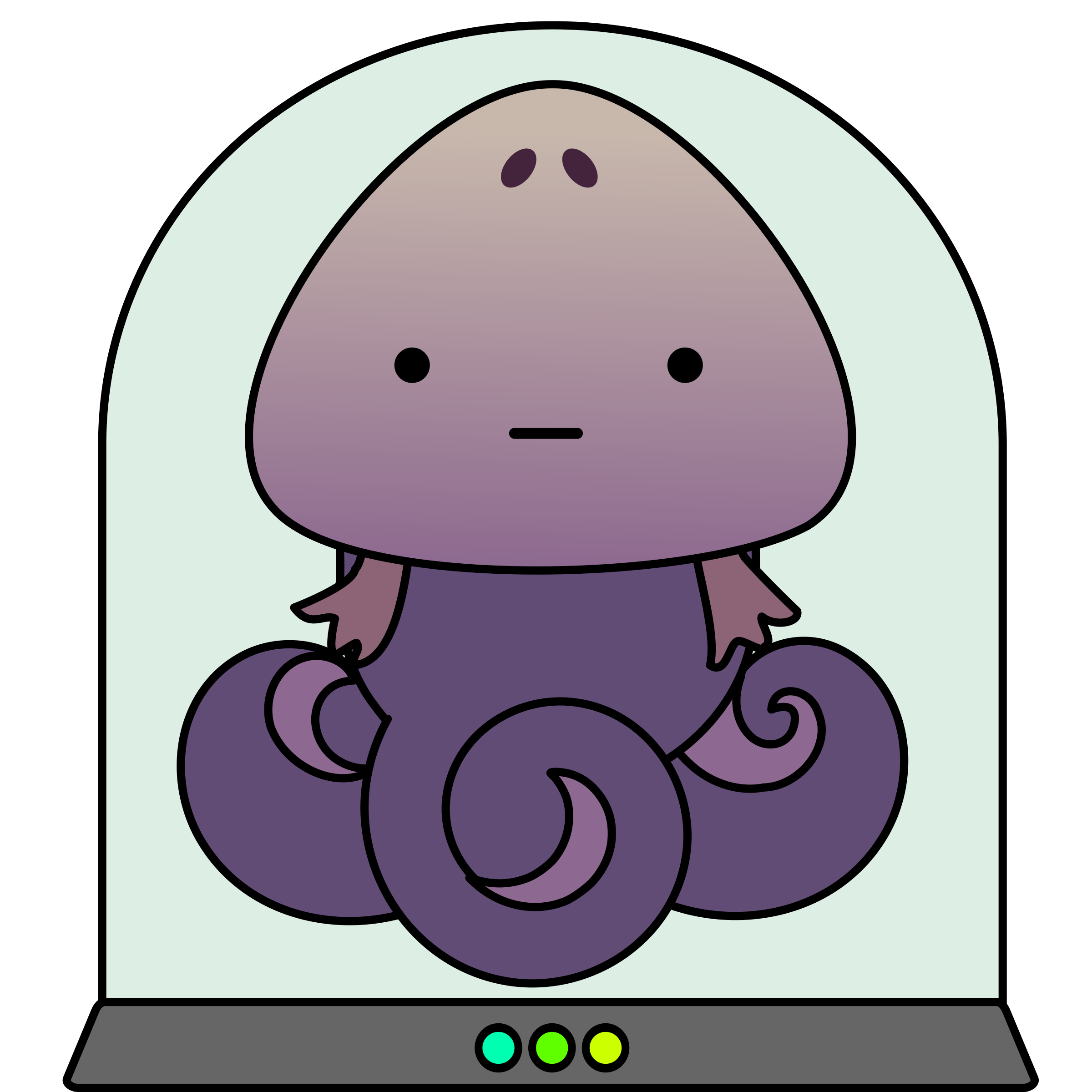 Purple clipart squid. Cute alien monster in