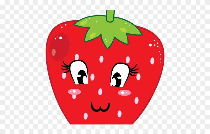 Milkshake cartoon strawberry . Strawberries clipart cute
