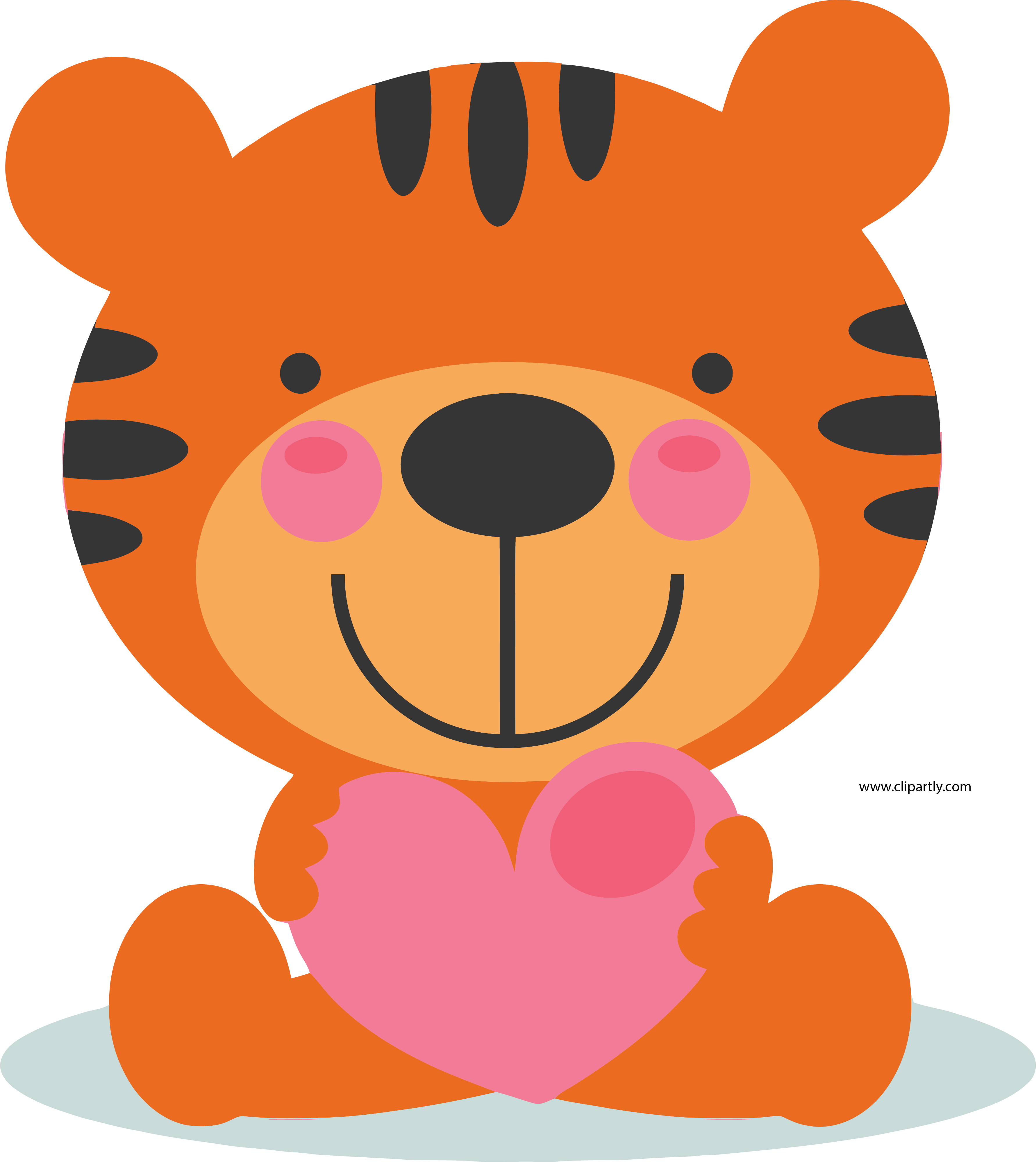 Large tigger png image. Valentine clipart cute