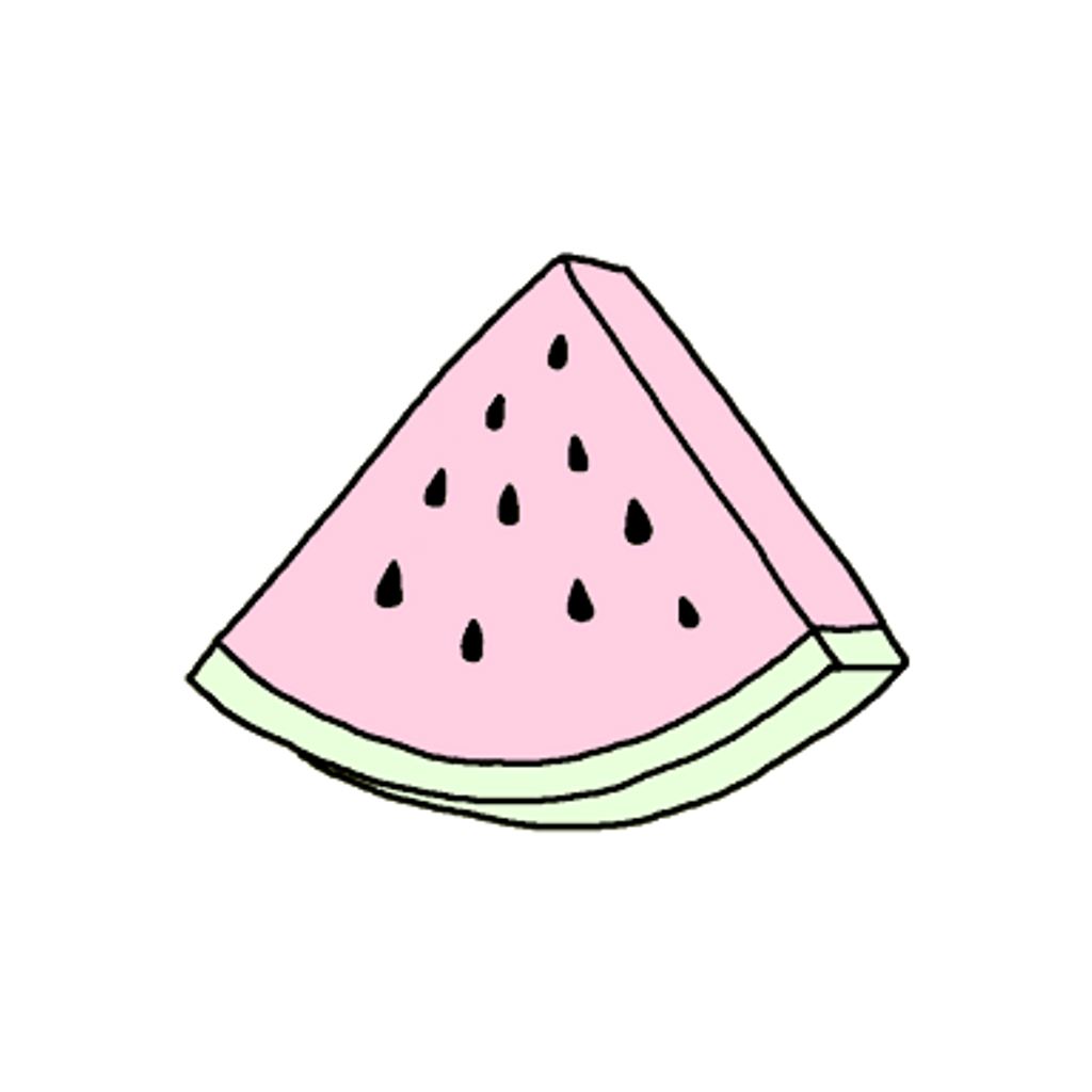 Watermelon clipart triangle thing. Pastel tumblr cute png
