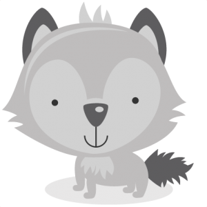 Wolves clipart cute. Animals pets miss kate