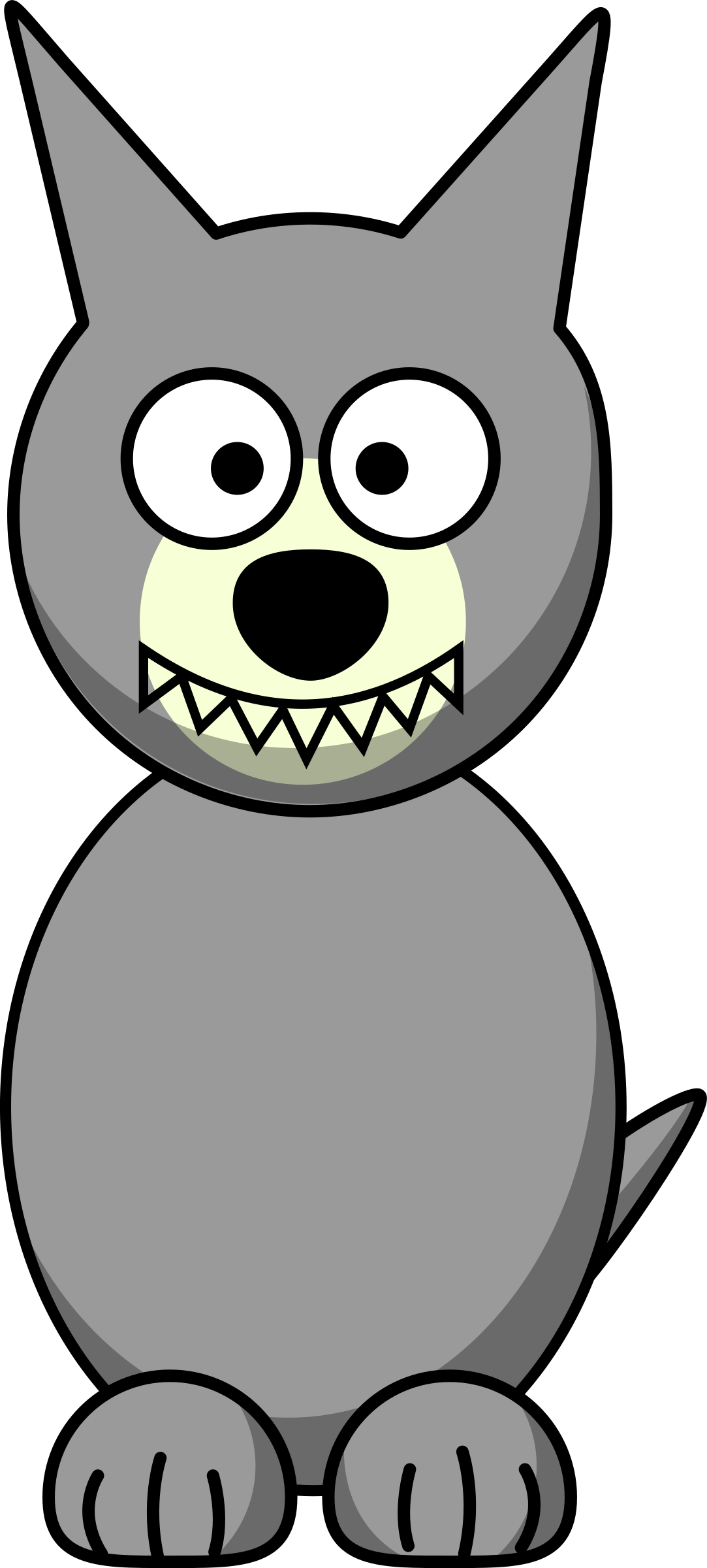 Cartoon wolf. Wolves clipart simple