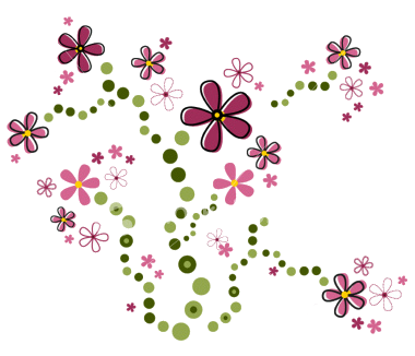 Pink flowers by hanabell. Cute flower png