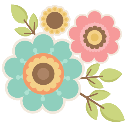 Twigs with flowers svg. Cute flower png