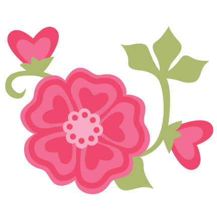 Valentine flowers svg cut. Cute flower png