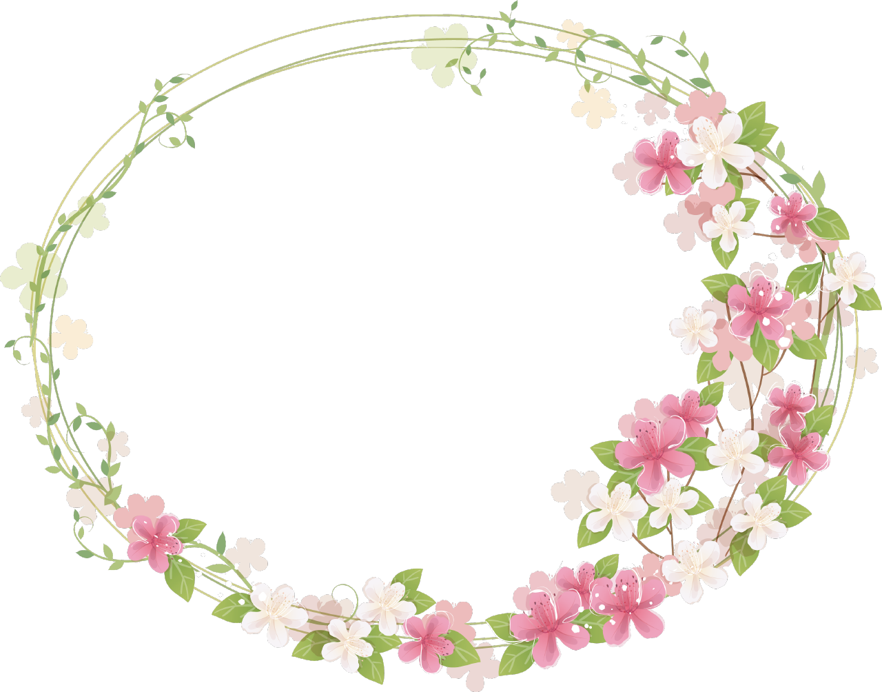 Floral photos mart. Cute frame png