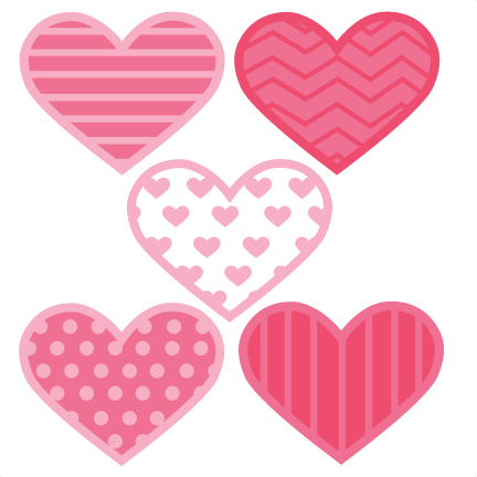 Assorted svg cut files. Cute hearts png