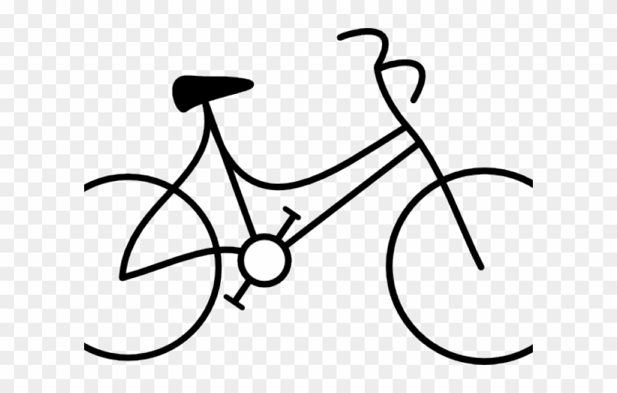 Cycling stick figure bike. Cycle clipart bicycle drawing