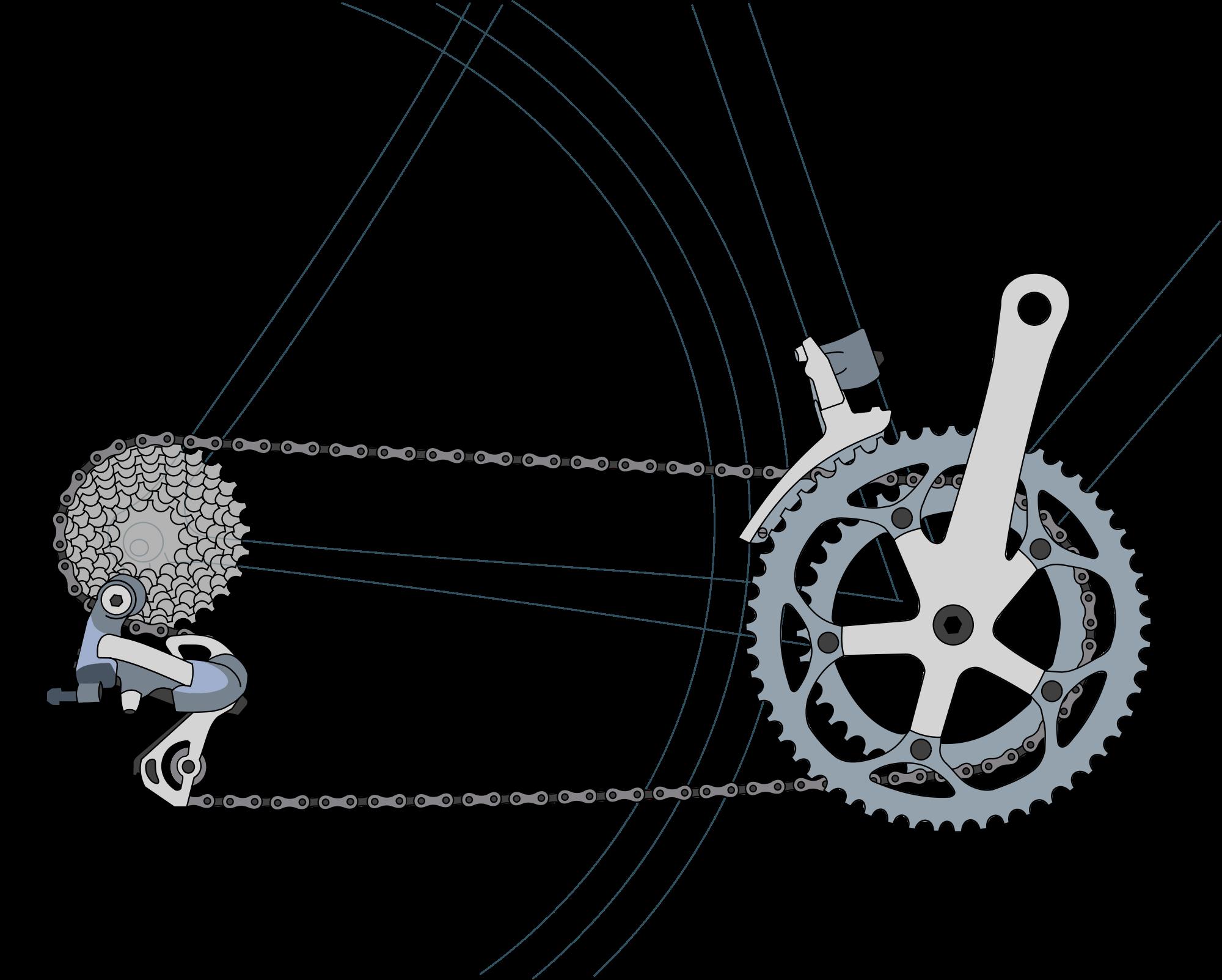 How bicycle dynamo works. Gear clipart bike gear