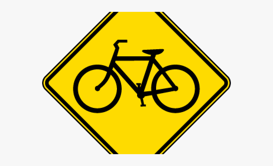 Cycle clipart bicycle sign. Signboard road symbol free