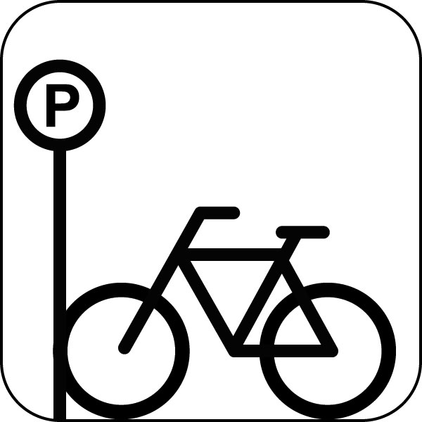 Cycle clipart cycle parking. Bicycle graphic symbol icon