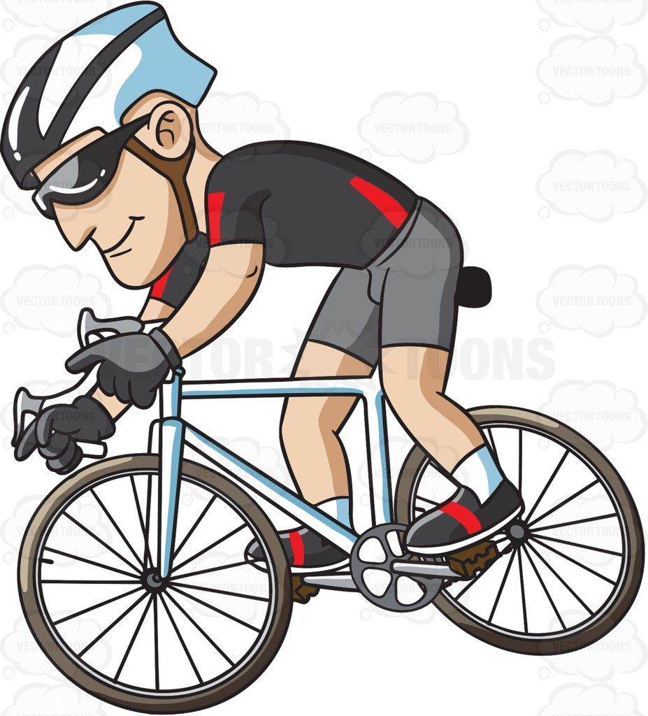 Cycle clipart cycling exercise. A man riding bike