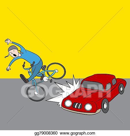 Vector cartoon car hits. Cycle clipart kind vehicle