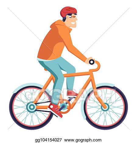 Vector art bicycle delivery. Cycle clipart man