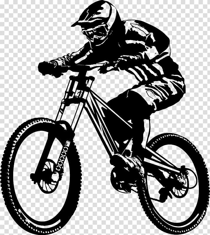 Downhill biking cycling bicycle. Cycle clipart mountain biker