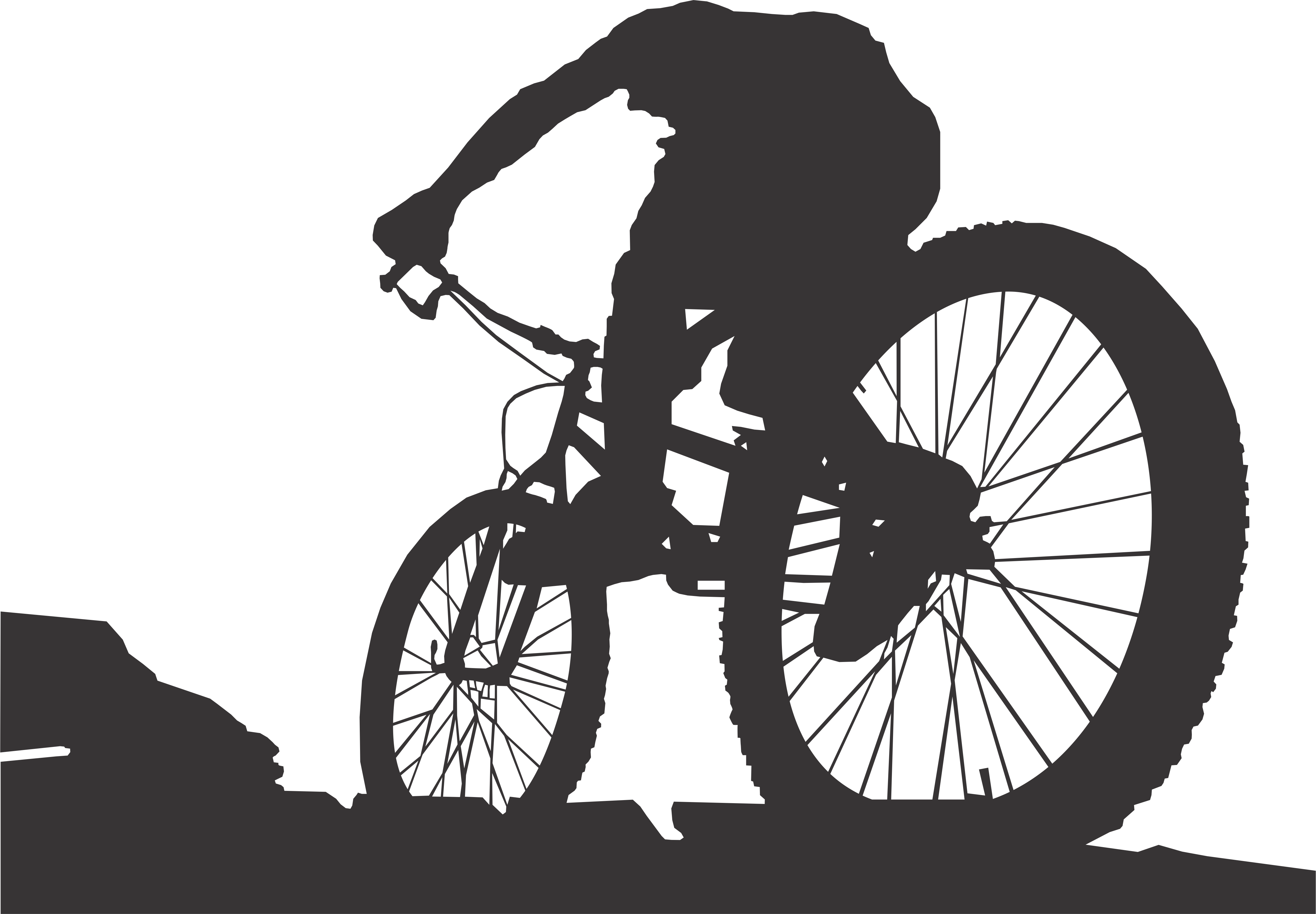 Cycle clipart mountain biker. Images of bike vector