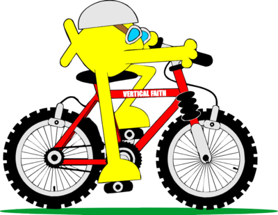 Cycle clipart mountain biker. Free bike download clip