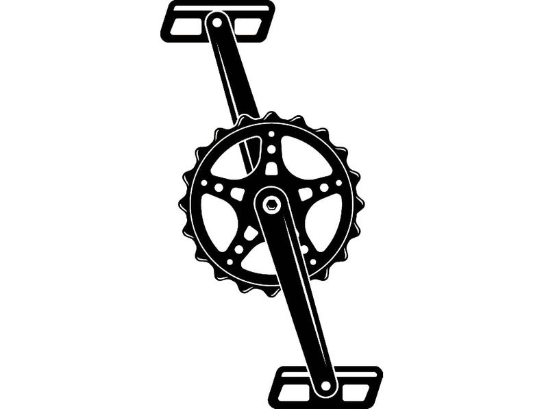 Bicycle crank cycling beach. Cycle clipart pedal bike