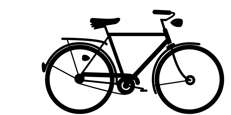 Cycle clipart retro bike. Silhouette at getdrawings com